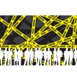 police caution tape vector image vector image