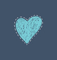 poster with scribble heart vector image vector image