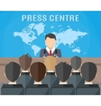 Press conference world live tv news vector image vector image