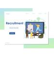 recruitment website landing page design vector image