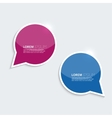 Red and blue shining bright bubble speech on a vector image vector image