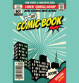 retro magazine cover vintage comic book vector image vector image