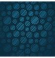 Seamless pattern with hand drawn polka dots vector image
