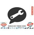 Service Message Flat Icon With 2017 Bonus Trend vector image