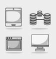 set data center network server vector image vector image