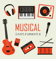 set of music instruments vector image