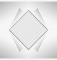sheet of paper in gray on the gray background vector image vector image