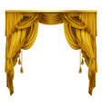 silk velvet theatrical curtain with folds vector image