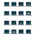 Sixteen laptop emojis