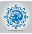 Snowflake of the Dragon on the Chinese zodiac vector image