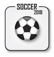 soccer cup 2018 single icon convex style vector image