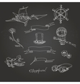 Steampunk chalk board vector image