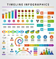 Timeline Infographic Design Templates set Charts vector image vector image