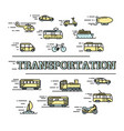 transportation concept with icons vector image vector image