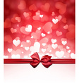 Valentines background with bow vector image vector image