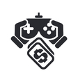 videogame price icon vector image vector image