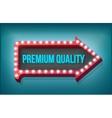 Volume retro arrow with lights Premium Quality vector image vector image