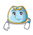 waiting baby bib isolated on the mascot vector image
