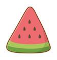 watermelon cartoon fruit vector image vector image