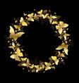 wreath gold butterflies vector image vector image