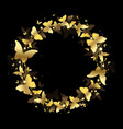 wreath of gold butterflies vector image vector image