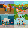 zoo visitors concept vector image vector image