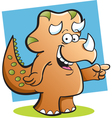 Cartoon Triceratops with a background vector image