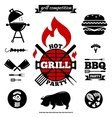 Grill party objects vector image
