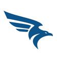 falcon bird logo abstract design template vector image