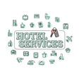 monochrome hotel services concept vector image