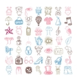 49 hand drawing doodle different icon set vector image vector image