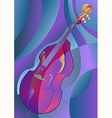 abstract contrabass vector image vector image