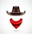 Accessories cowboy vector image vector image