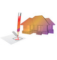 agreement house concept vector image