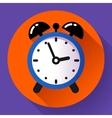 alarm clock icon flat vector image vector image