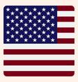 america square flag button social media vector image