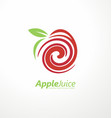 apple juice logo design concept vector image vector image