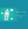 best cruise colorful travel to paradise best vector image vector image