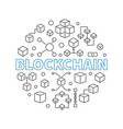 blockchain technology round outline modern vector image vector image