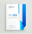 blue professional business brochure design vector image