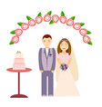 bride and groom on a white background vector image