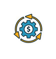 business model icon simple element from startup vector image vector image