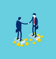 business partnership handshake agreement concept vector image vector image