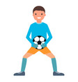 catch ball goalkeeper icon flat style vector image