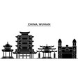 china wuhan architecture urban skyline with vector image vector image