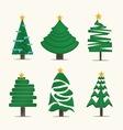 Christmas treesicon set vector image