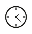 clock icon in flat design on white background vector image vector image
