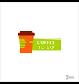 coffee logo for a coffee shop cup glass vector image