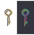 color line key symbol vector image