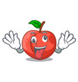 crazy fruit of nectarine isolated on mascot vector image vector image